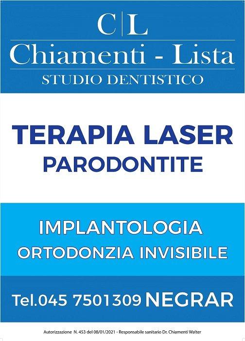 Studio dentistico verona Chiamenti lista odontoiatria laser Dottor da cercare